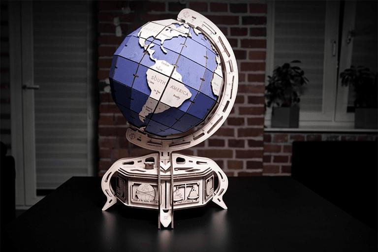 3d puzzel wereldbol