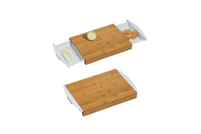 bamboe snijplank met opvangbak