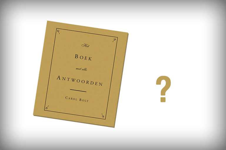 boek met alle antwoorden
