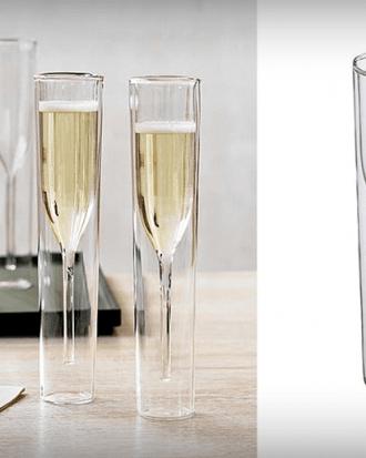 dubbelwandige luxe champagneglazen