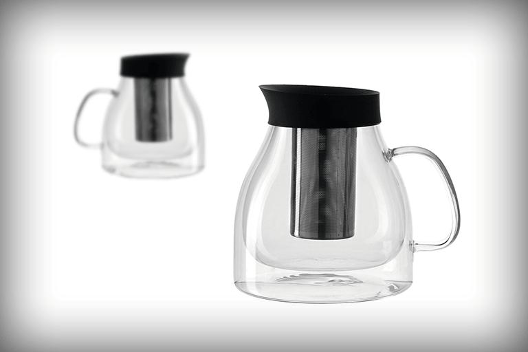 dubbelwandige theepot glas