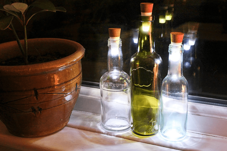 led verlichting fles