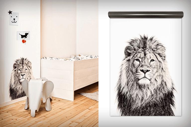 magneetbehang leeuw