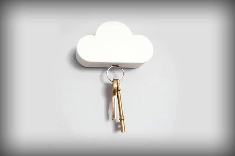 magnetische sleutelhouder wolk
