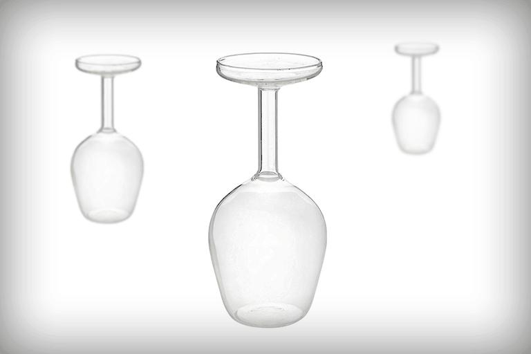 omgekeerd wijnglas