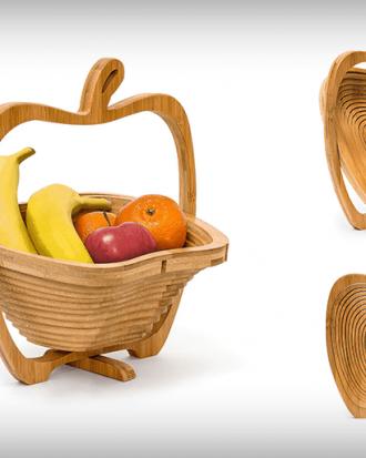 opvouwbare houten fruitschaal