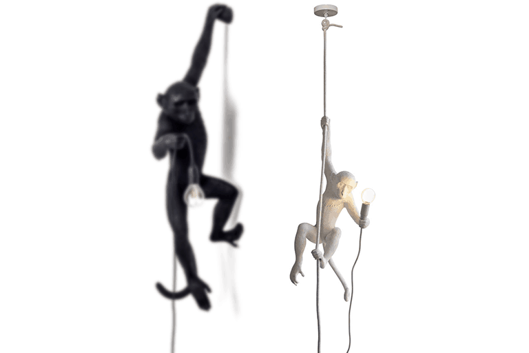 hangende aap lamp