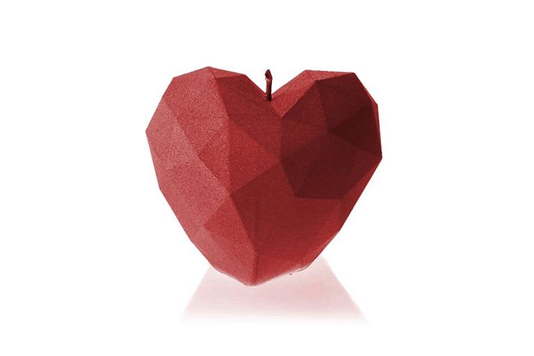 kaars in hartvorm