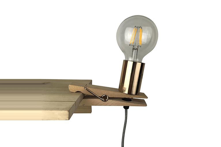 wasknijper lamp