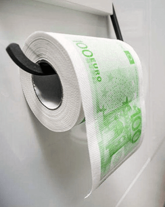 geld wc papier