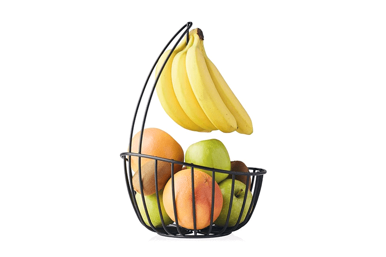 fruitmand met bananenhaak