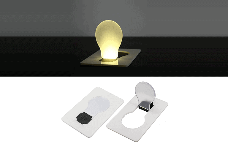 gloeilamp creditcard led lamp