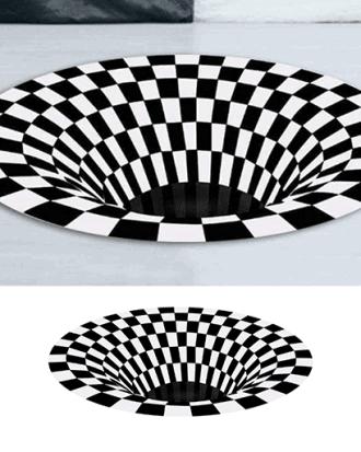 3d optische illusie tapijt