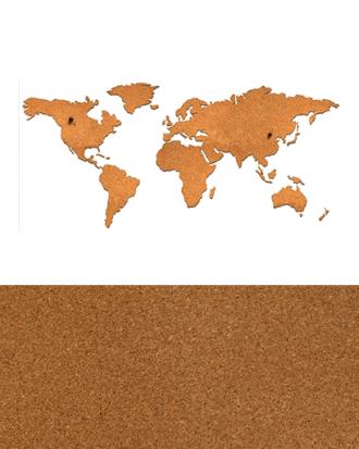 wereldkaart van kurk
