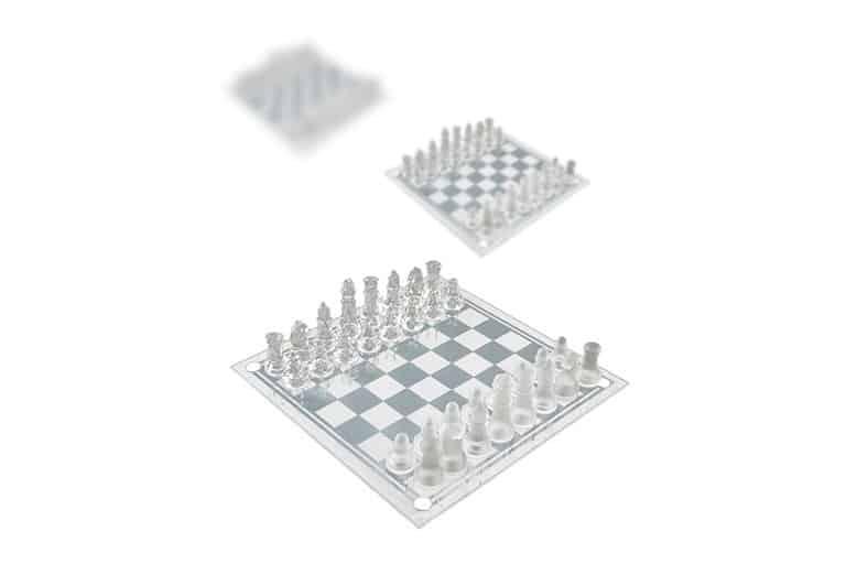 glazen schaakbord