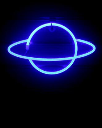 planeet neon lamp