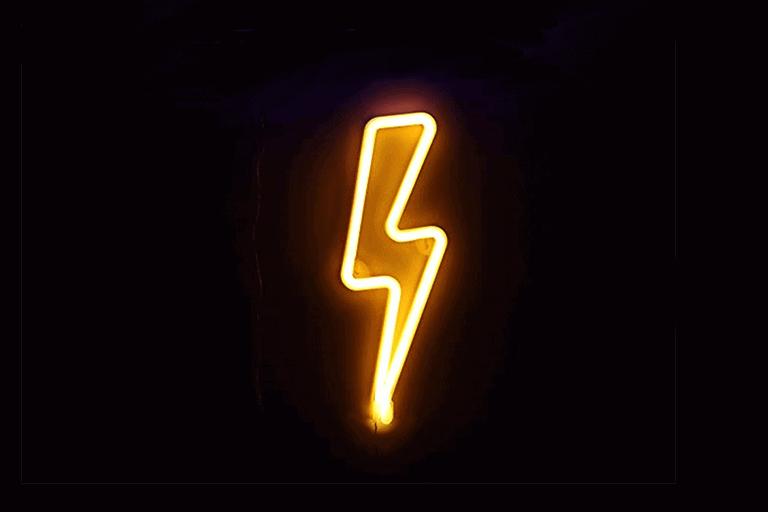 Bliksem Neon Lamp