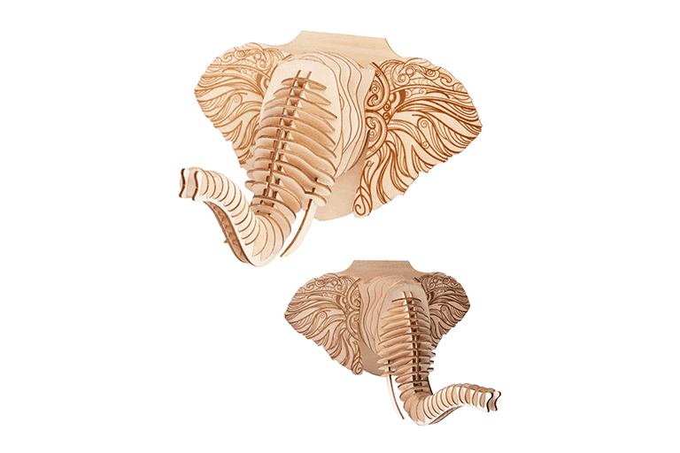 houten olifantenkop