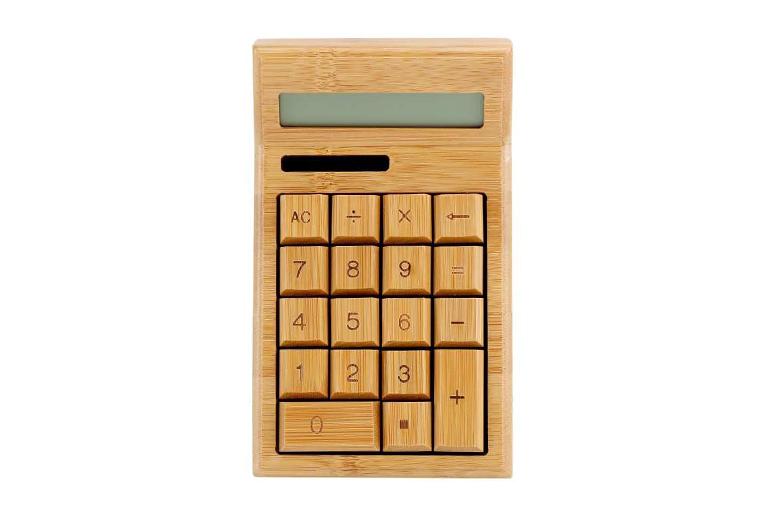 houten rekenmachine